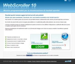 Neotek Webscroller 10: visualizzazione risultati sportivi per sale scommesse, ricevitorie, bar