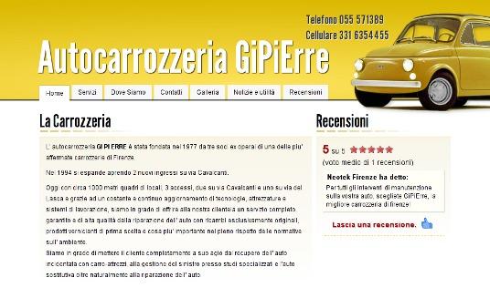Nuovo sito web Autocarrozzeria GiPiErre