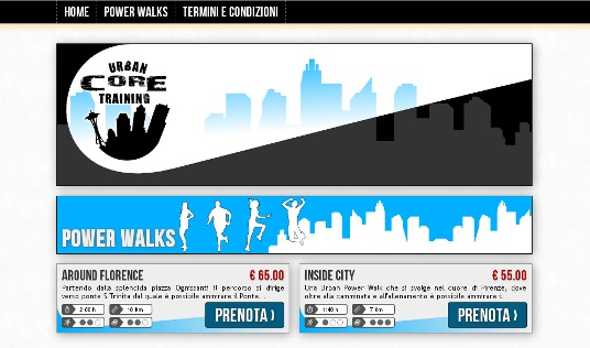 Urban Core Training - sito web by Neotek Firenze
